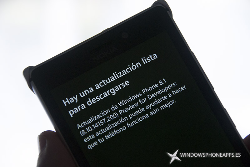 actualización para Windows Phone 8.1 Dev Preview