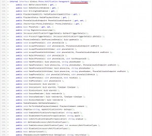 API's de la interfaz para accesorios de Windows Phone 8.1 Update 1