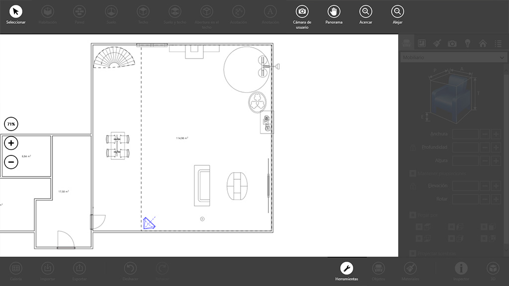 Live interior 3d pro una app de decoraci n de interiores for Programas de diseno de interiores para windows 8