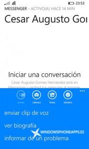 clip de voz - messenger