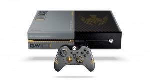 Xbox One y mando personalizados con iconografía de Call of Duty: Advanced Warfare