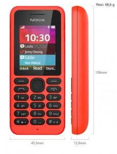 Dimensiones Nokia 130