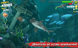 ¡Gráficos de última generación! en Hungry Shark Evolution