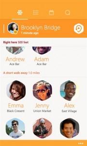 Amigos en Swarm para Windows Phone