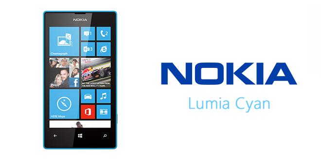 Lumia Cyan para los Nokia Lumia 520