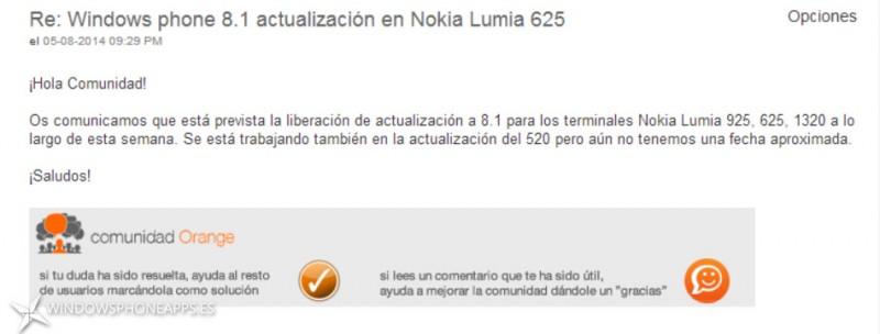 Orange Windows Phone 8.1