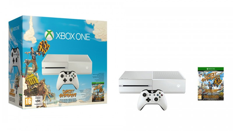 Pack de Xbox One blanca con Sunset Overdrive