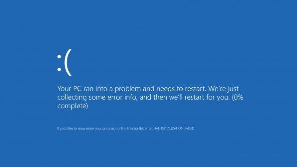 Pantalla error Windows 8.1
