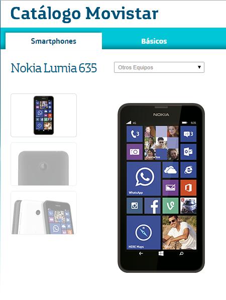 Lumia 635 Movistar