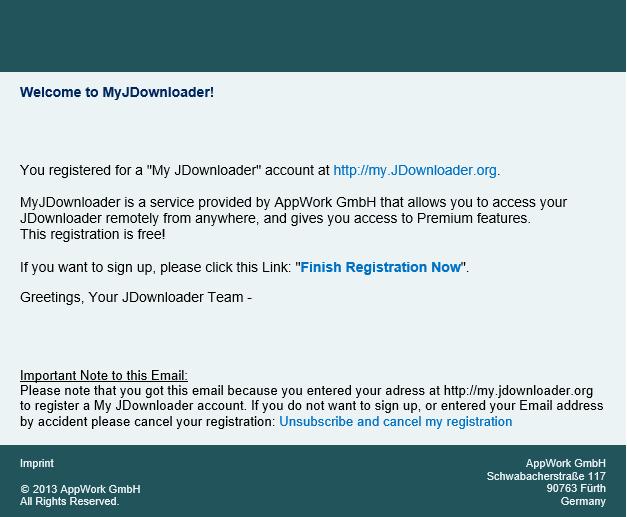 Registro Jdownloader 2