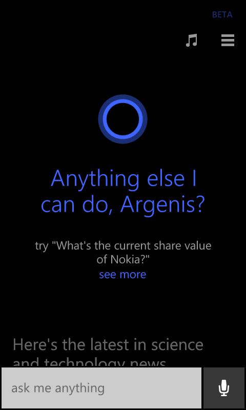 Cortana Windows Phone