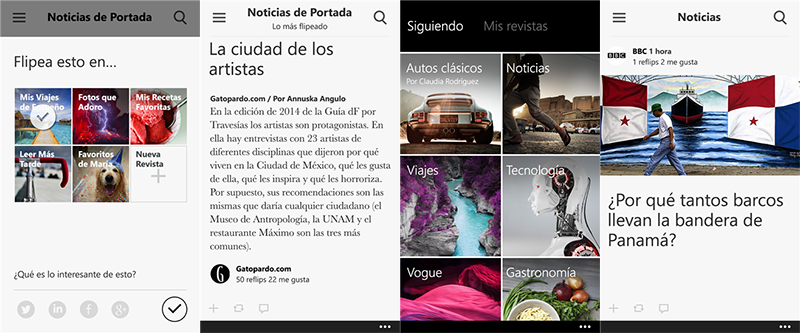 Flipboard para Windows Phone