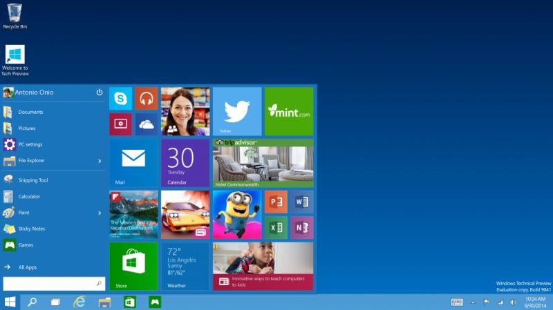 Windows 10, la siguiente versión del sistema operativo de Microsoft.