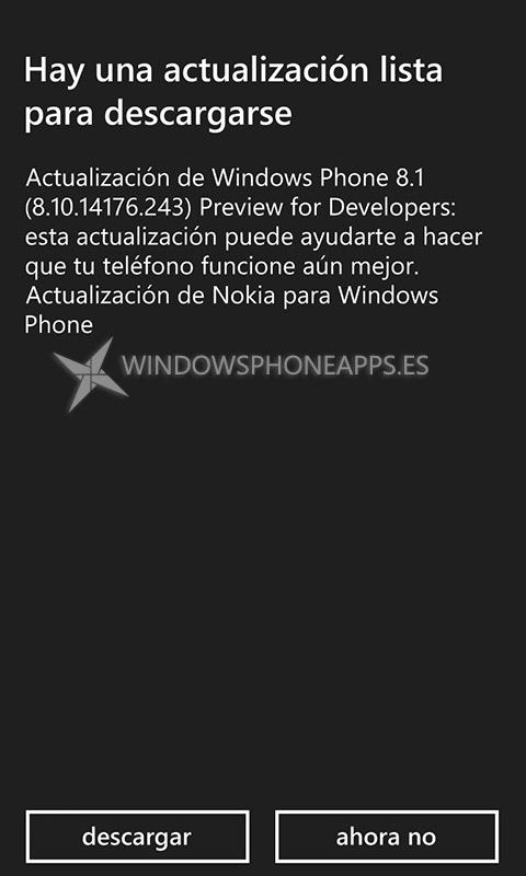 Windows Phone 8.1 PfD 8.10.14176.243
