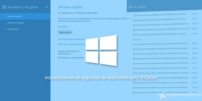 Actualizaciones de seguridad de septiembre para Windows
