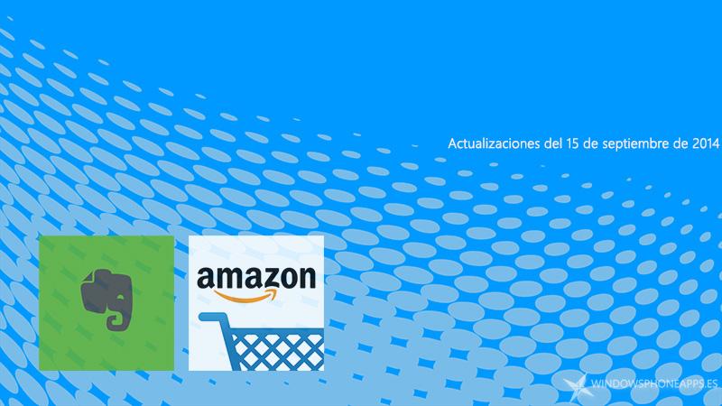 Evernote y App Amazon se actualizan