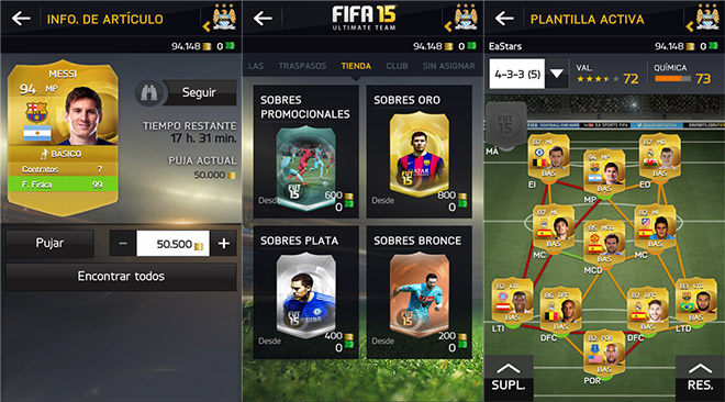 FIFA 15 Companion - capturas