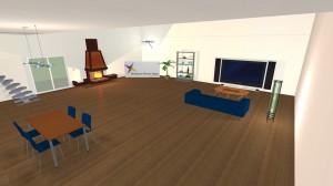 Foto de entrada al comedor en Live Interior 3D Pro