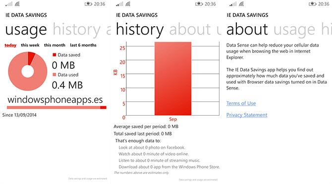 IE Data Savings