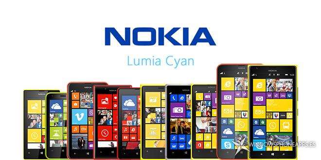 Lumia Cyan para los Nokia Lumia 520, 620, 625, 720, 820, 920, 925, 1020, 1320 y 1520