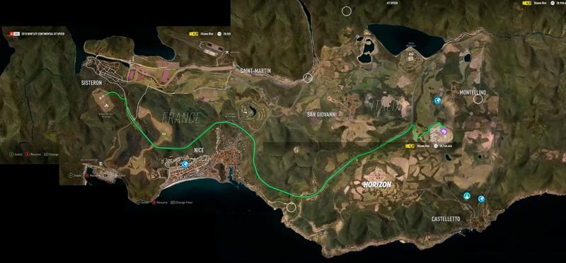 Mapa de Forza Horizon 2