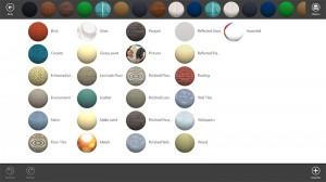 Primera imagen de los materiales en Live Interior 3D Pro