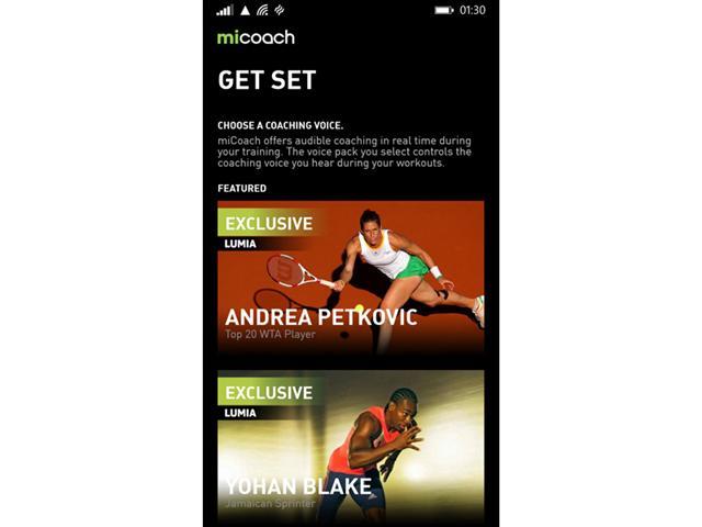 miCoach- Windows Phone Lumia