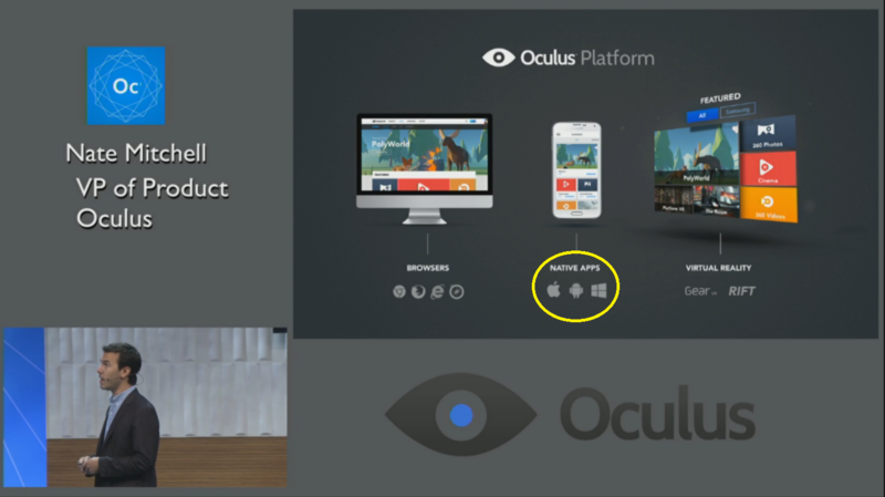 oculus app nativa Windows Phone