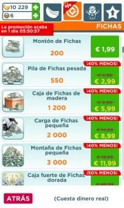 Ofertas compras In App Gameloft