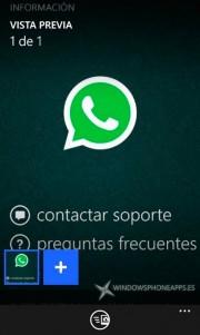 Opciones actuales para el envío de una imagen con WhatsApp