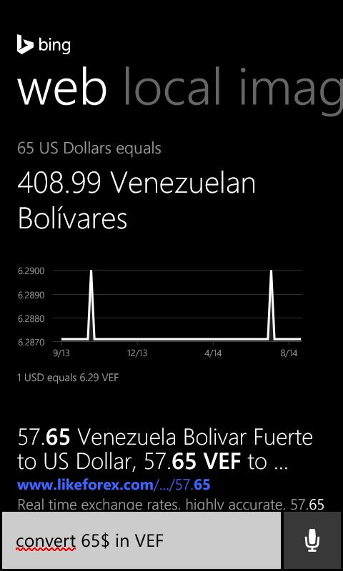Cortana Conversión de unidad