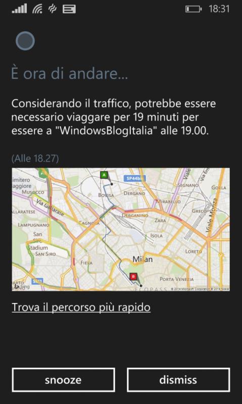 Cortana en italiano