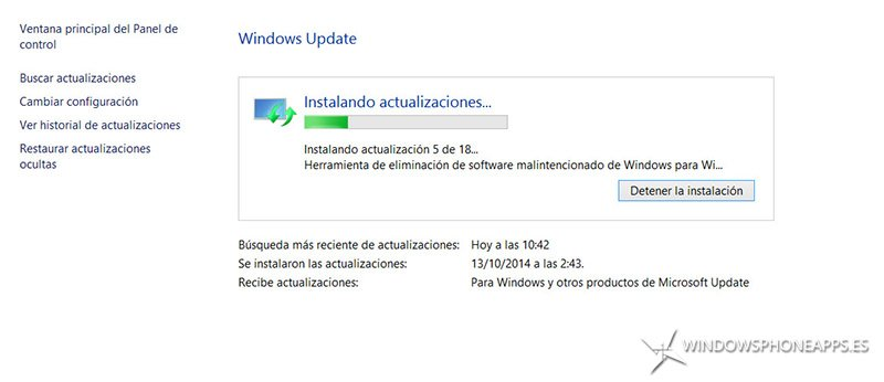 actualizacion windows 8