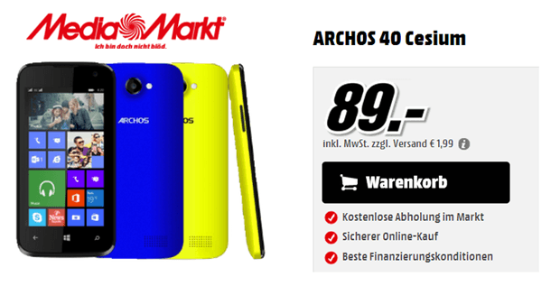 Archos 40 mediamarkt