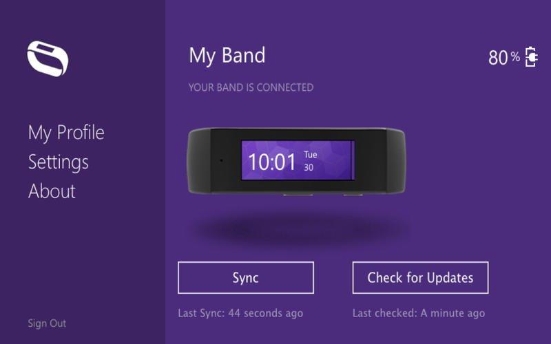 Microsoft Band Sync App para Mac