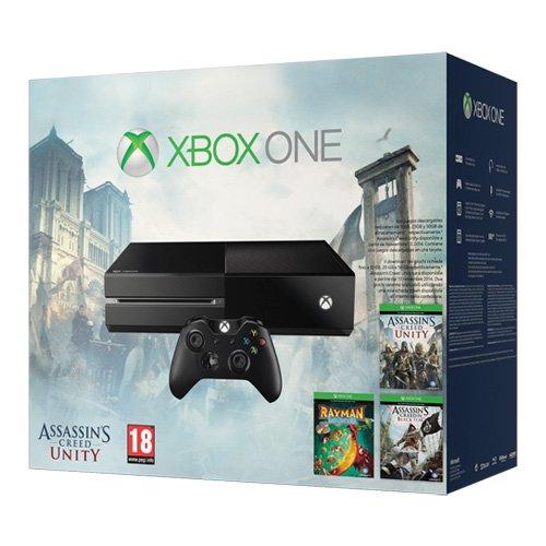 Pack de Xbox One + Assassin's Creed Unity y 2 juegos más