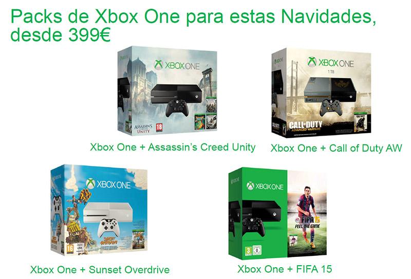 Packs Xbox One para navidades