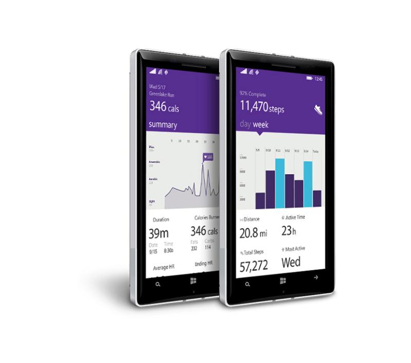 Aplicación Microsoft Health para Windows Phone