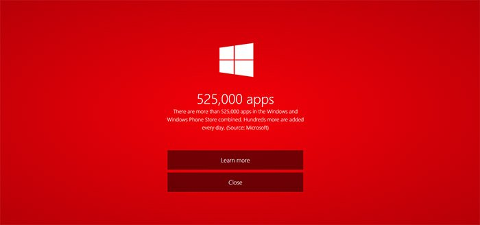 525 mil apps en las tiendas Windows