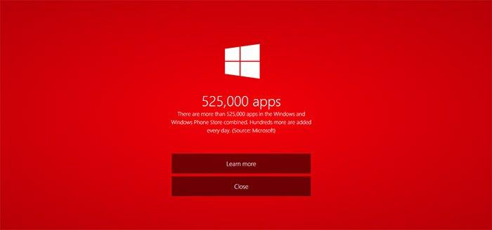 525 mil apps en las tiendas Windows