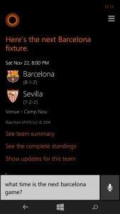 Cortana añade nuevas funciones con seguimiento de las ligas europeas de fútbol