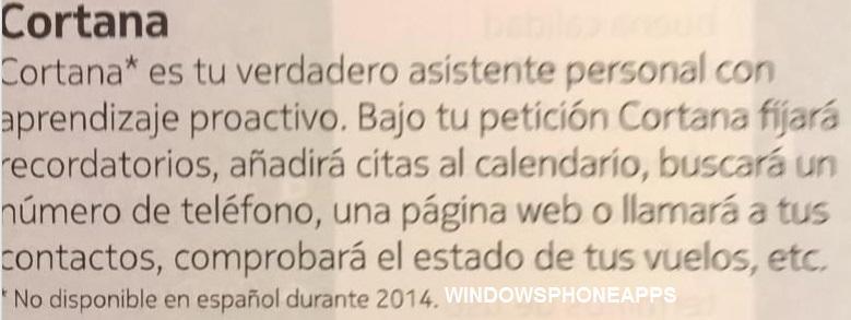 Cortana en España