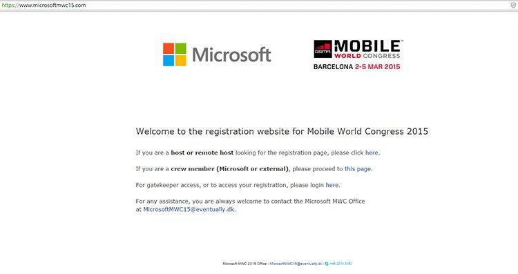 Microsoft Mobile World Congress 2015