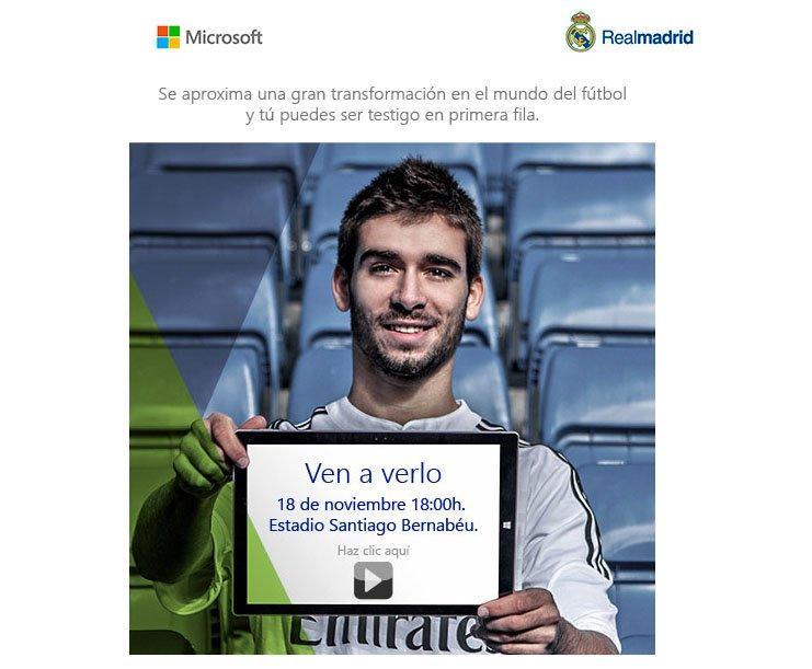 El Real Madrid y Microsoft