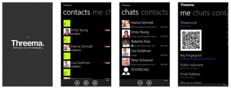 Threema para Windows Phone capturas