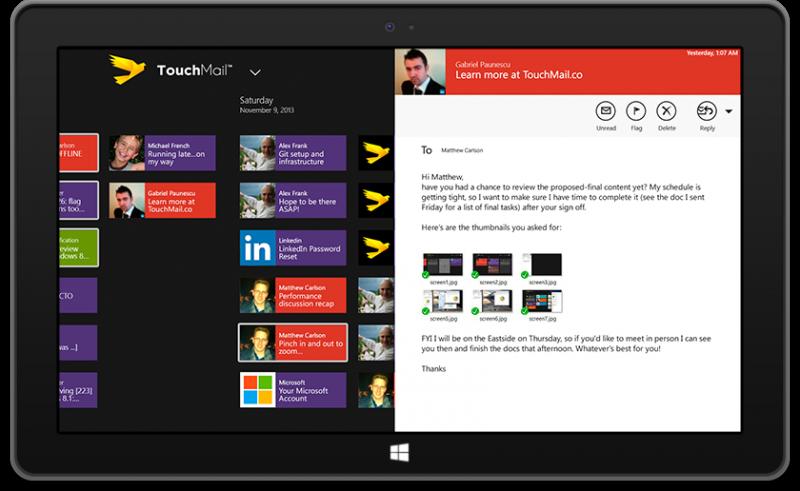 touchmail windows 8
