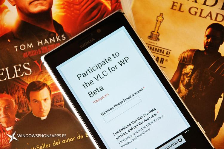 VLC Beta para Windows Phone