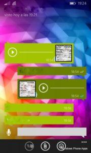 "Doble ""check"" azul en mensajes de voz de WhatsApp"
