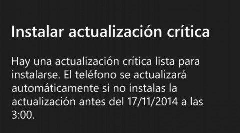 Actualizacion Windows Phone