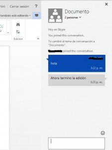 skype office online chat